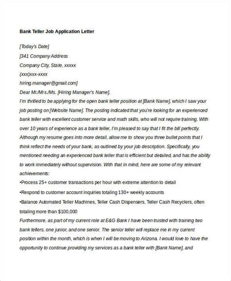 application letter bank teller position 40 application letters format free premium templates