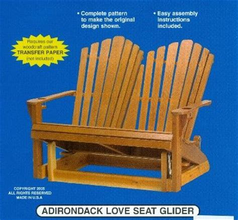 pattern for wood glider adirondack glider chair woodworking plans woodworking