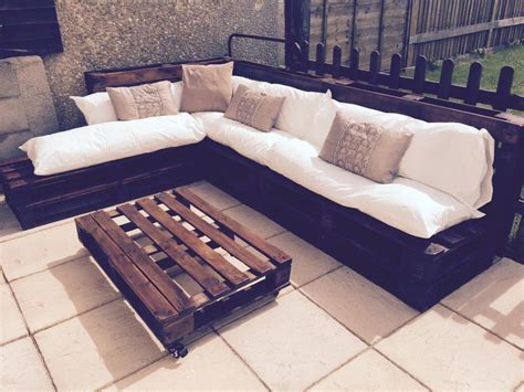 make a sofa out of pallets outdoor furniture made from pallets simple diy https