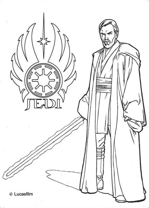 Jedi Coloring Pages Star Wars Coloring Pages Jedi Obi Wan Kenobi