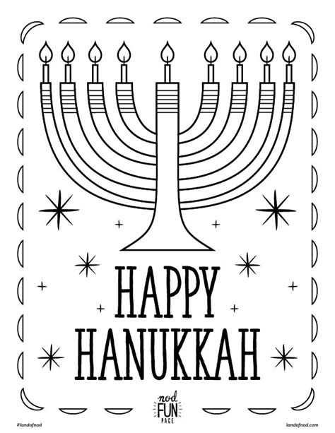 hannukah printable coloring page honest to nod
