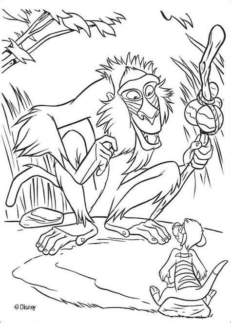 lion king rafiki coloring pages rafiki and timon coloring pages hellokids com