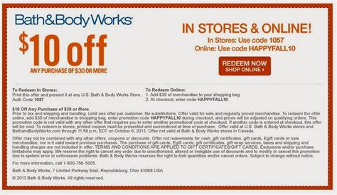 bed body works coupon bath body works coupons save 10 off 30 spend less