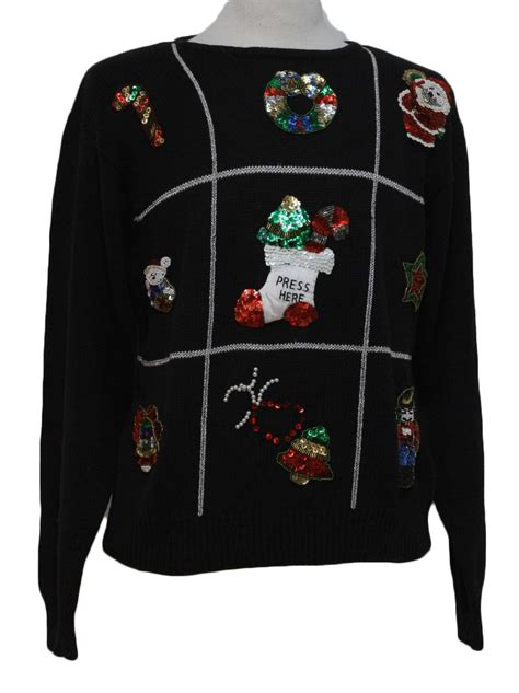 ugly christmas sweater margos unisex black background