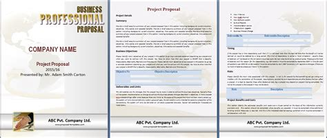 project proposal template free proposal templates