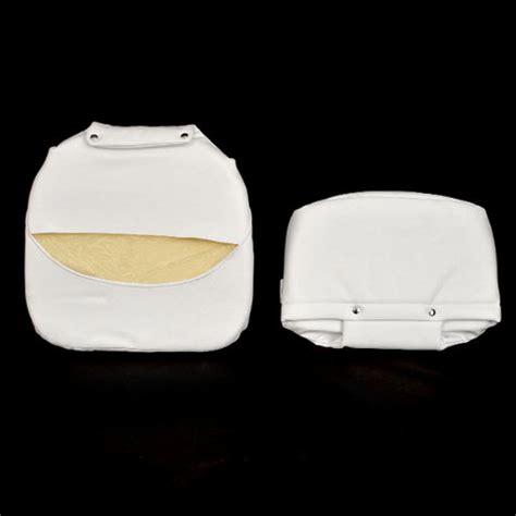 boat cushion snaps tempress boat seat cushion white vinyl 2 pc set ebay