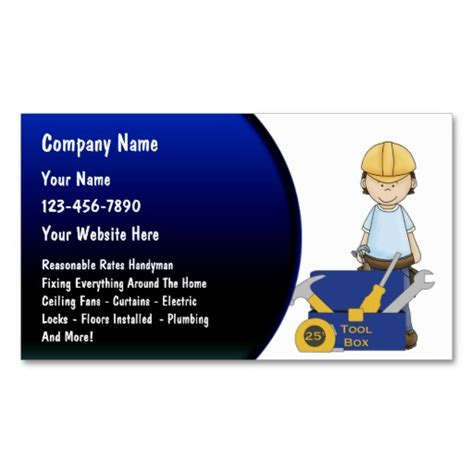 business card handyman template handyman pictures with quotes quotesgram