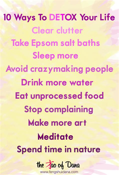 Ways To Detox From by 10 Ways To Detox Your Words Of Wisdom The Tao Of
