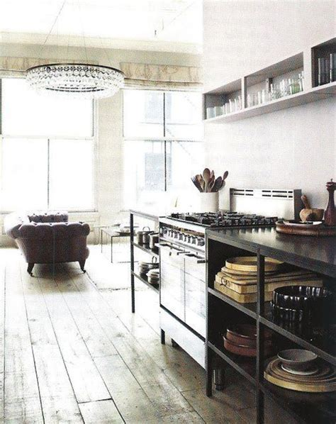 cool and minimalist industrial kitchen design and style