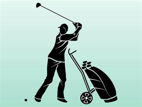 golf swing vector golfer silhouette vector art graphics freevector com