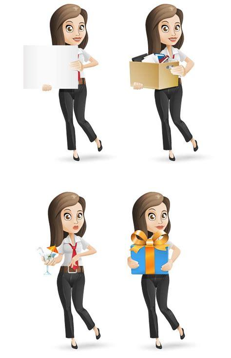 Power Bank Set Karakter businesswoman vector character set vekt 246 rler 365psd
