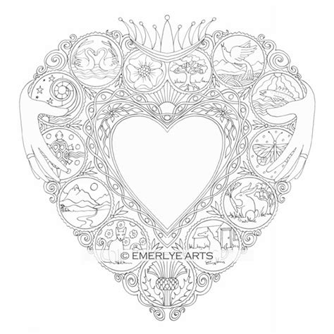 coloring pages for adults heart cynthia emerlye vermont artist and life coach claddegh