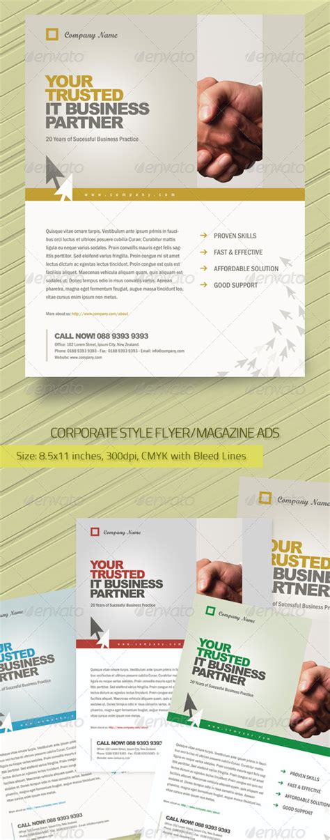 magazine ad template corporate style flyer magazine ads template graphicriver