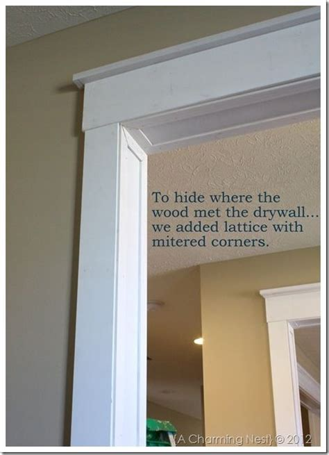 Patio Door Trim Molding Molding Around Doorways Adds A Touch Of Character To An Otherwise Quot Standard Quot Looking Entry