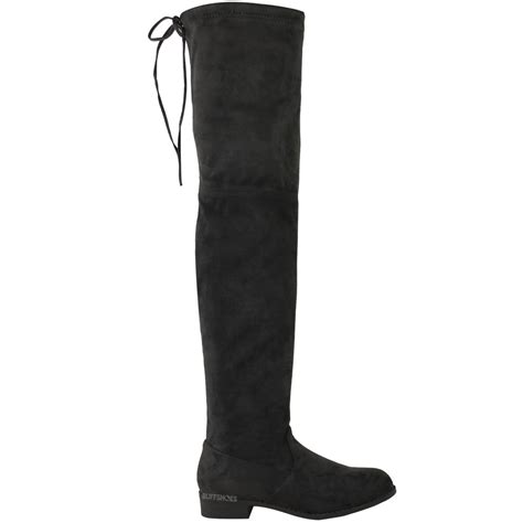 low heel thigh high boots womens low heel thigh high the knee stretch