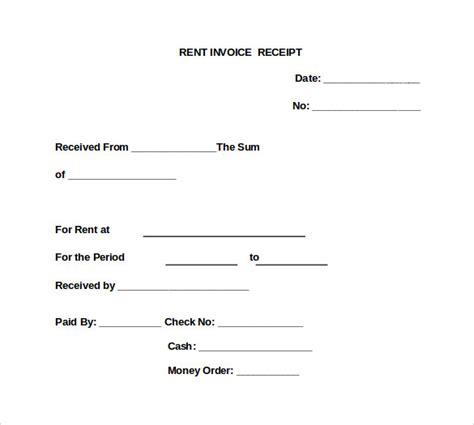 rent invoice templates    documents