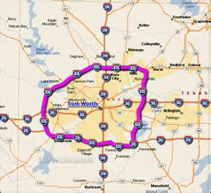 i 820 fort worth map interstate 820 fort worth loop map