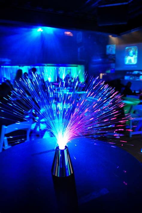 fiber optic decorations fiber optic centerpieces great for some tables wed pm