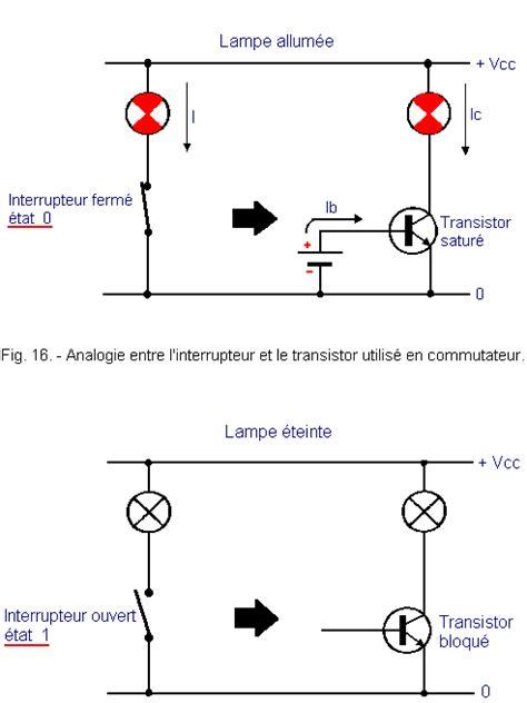 transistor bipolaire mosfet fonctionnement du transistor bipolaire en r 233 gime satur 233 ou bloqu 233