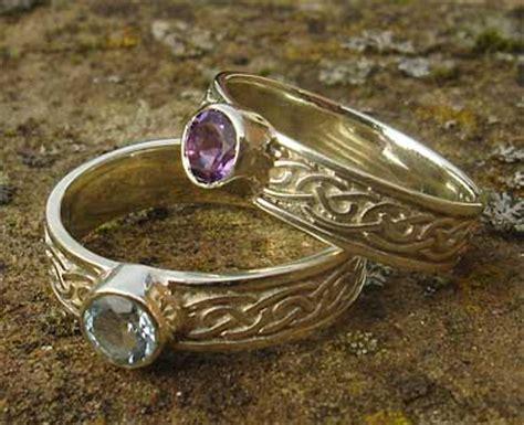 scottish blue topaz celtic engagement ring love2have in