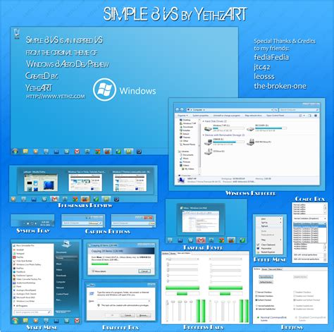 theme editor windows 8 simple 8 theme for windows 7 themes visual styles