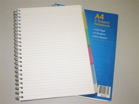 5 section notebook ok office school bulk stationery supplies sydney brisbane