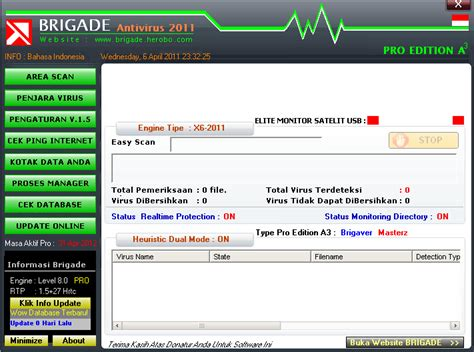 Berapa Anti Virus brigade antivirus vipergoy s