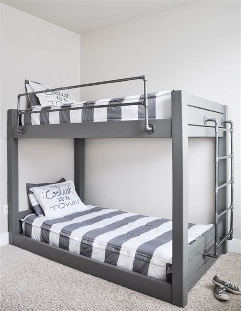 bunk beds pictures diy industrial bunk bed free plans cherished bliss