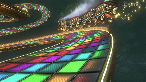Rainbow Road 4k mario kart 8 rainbow road n64 replay 2160p