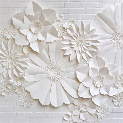 Www Paper Flowers - handmade paper flower wall installation by may contain