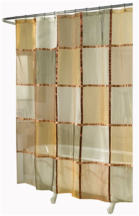 Ex Cell Home Fashions Mosaic Fabric Shower Curtain