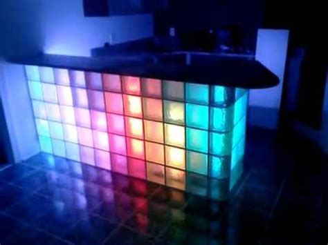 glasbausteine mit led beleuchtung vinces vicious cycles built glass block bar with led light