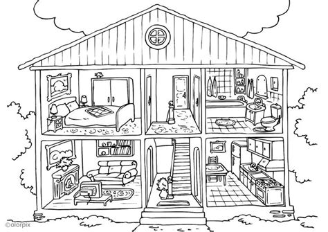 home design coloring book coloriage maison int 233 rieur img 25995