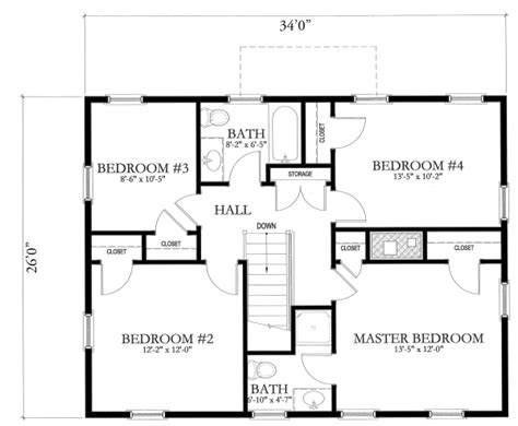 basic home floor plans simple house blueprints with measurements and simple floor