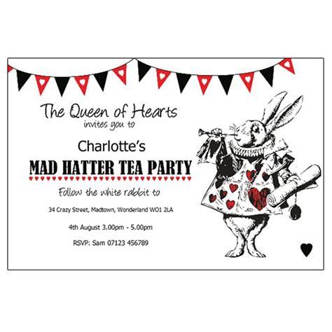 mad hatter tea invitation template free tea mad hatter theme invitations