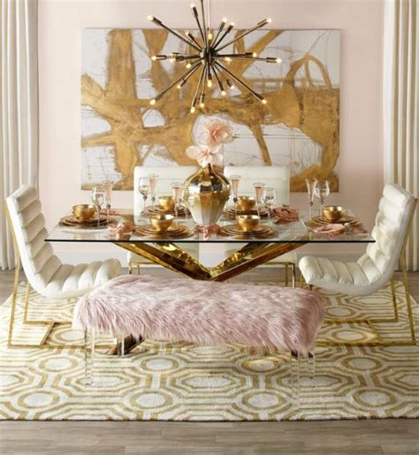 29 gorgeous rose gold home decor design ideas loveable blush gold dining room primcousa