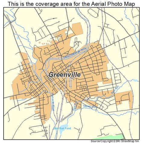 map of greenville aerial photography map of greenville pa pennsylvania