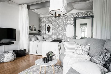 white and gray studio apartment with best plan setting enchanting white studio apartment ifresh design