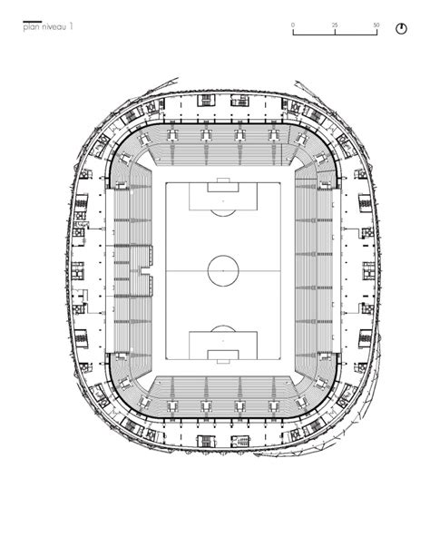 stadium floor plans gallery of willmote allianz rivera wilmotte associ 233 s