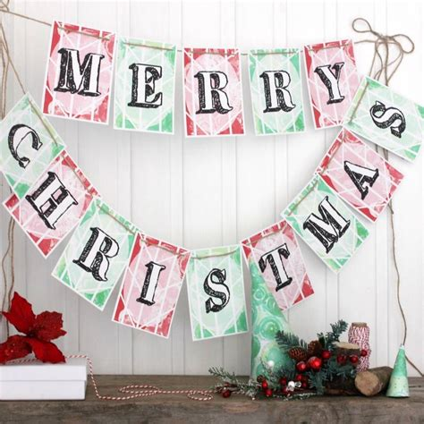 merry christmas bunting christmas decorations by little