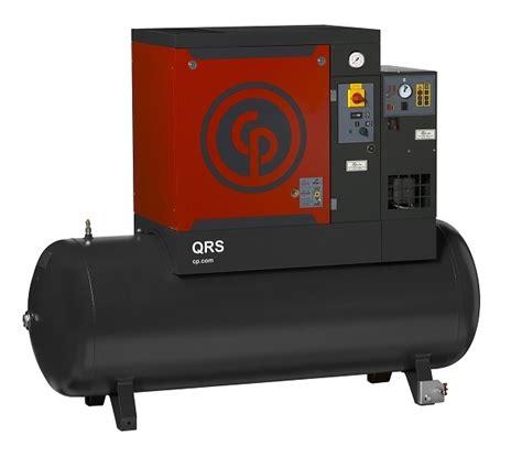 chicago pneumatic qrs15 hp tm rotary air compressor