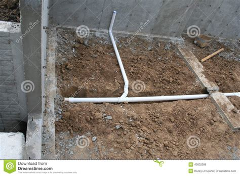 Degree In Plumbing by Roughed In Basement Plumbing 4 Stock Photo Image 43002386