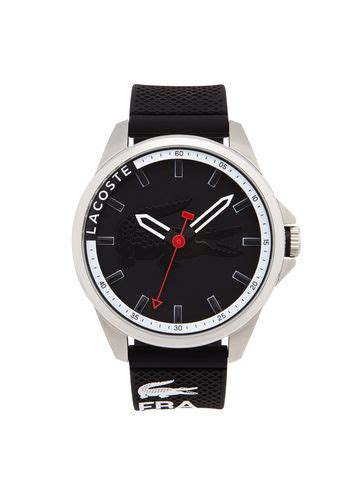 Lacoste 2010759 Tonga Black Silicone watches for s accessories lacoste