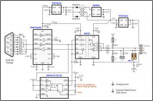rs 422 to rs232 converter schematic rs get free image about wiring diagram