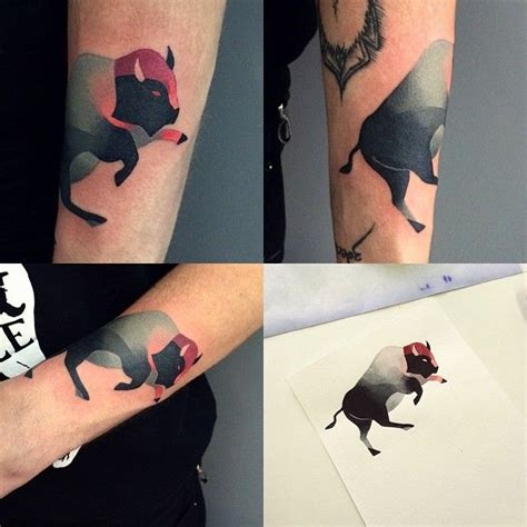 watercolor tattoo hamburg best 25 bison ideas on