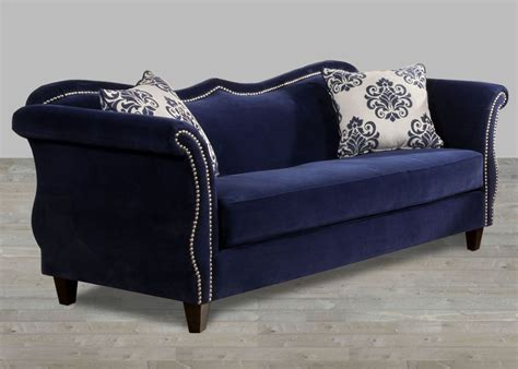 blue fabric sofas royal blue fabric sofa nailhead trim fabric sofas
