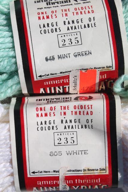 Rug Yarn Skeins Vintage Yarn Lot Aunt Lydia S Heavy Rug Yarn Rayon