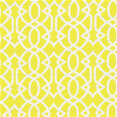 yellow trellis fabric susiecues hello spoonflower