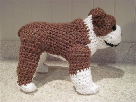crochet pattern english bulldog bulldog stuffed animal crochet pattern digital download