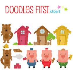 the three pigs puppet templates three pigs clip for scrapbooking card